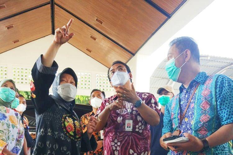 Menteri Sosial (Mensos) Tri Rismaharini saat melakukan pengecekan fasilitasi di Balai Besar Rehabilitasi Vokasional Bina Daksa (BBRVBD) ?Inten Soeweno? Cibinong, Bogor, beberapa waktu lalu.