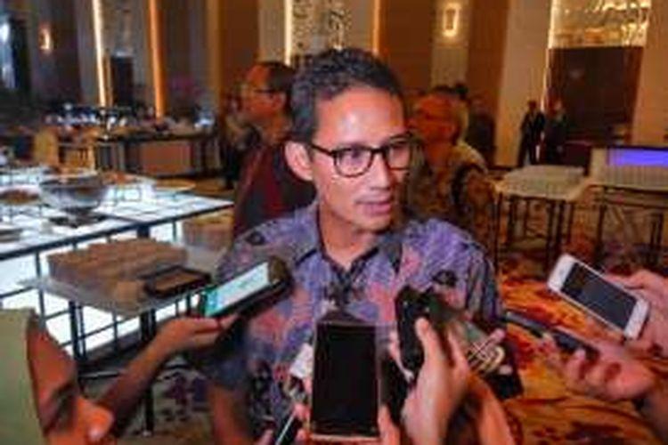 Bakal cagub DKI Jakarta Sandiaga Uno saat menghadiri HUT ke-45 CSIS di Jakarta, Kamis (1/9/2016) malam