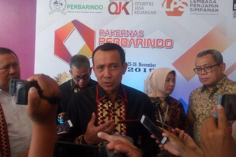 Ketua Umum Perbarindo Joko Suyanto dalam Rakernas Perbarindo.