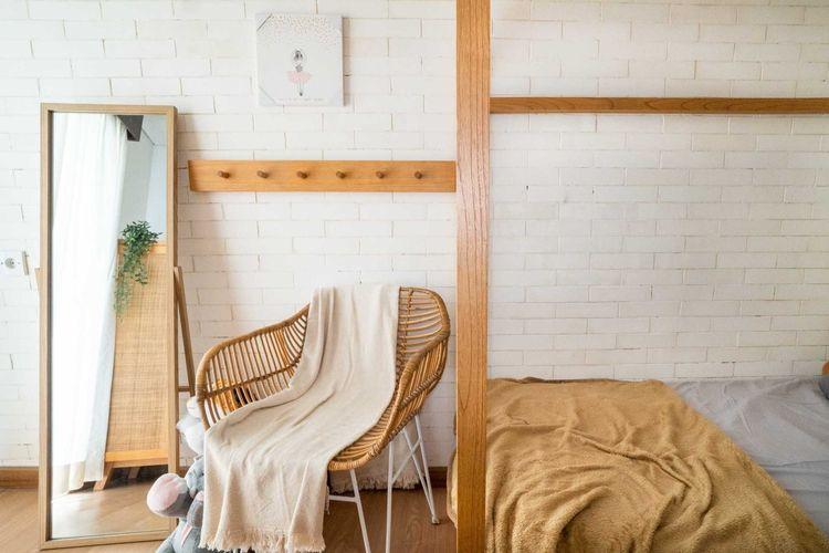Desain interior kamar tidur apartemen karya Fiano