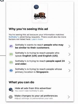 Fitur Why Am I Seeing this Ad untuk mengontrol iklan di Facebook.
