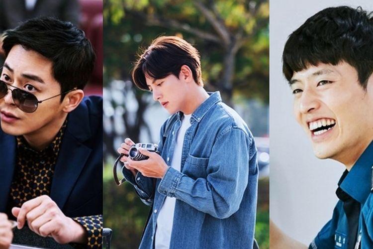 Jo Jung Suk, Ji Chang Wook, dan Kang Ha Neul (dari kiri), potret aktor Korea yang jago menyanyi.