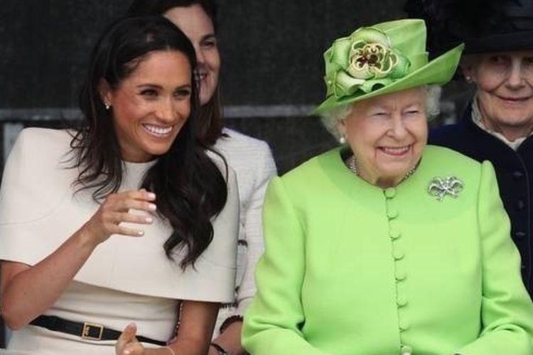 Meghan dan Ratu Elizabeth menghadiri pertemuan di Chesire, Inggris