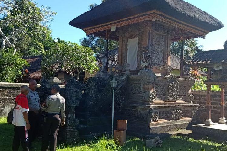 Aksi pencurian terjadi di sebuah Pura Dalem di Banjar Pinge, Desa Baru, Tabanan, Bali.