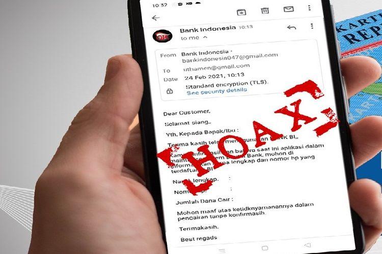 Hoaks Bank Indonesia meminta pengisian data diri