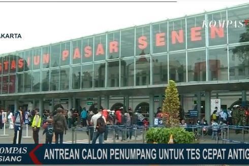Puncak Keberangkatan Penumpang KA dari Jakarta Terjadi Hari Ini