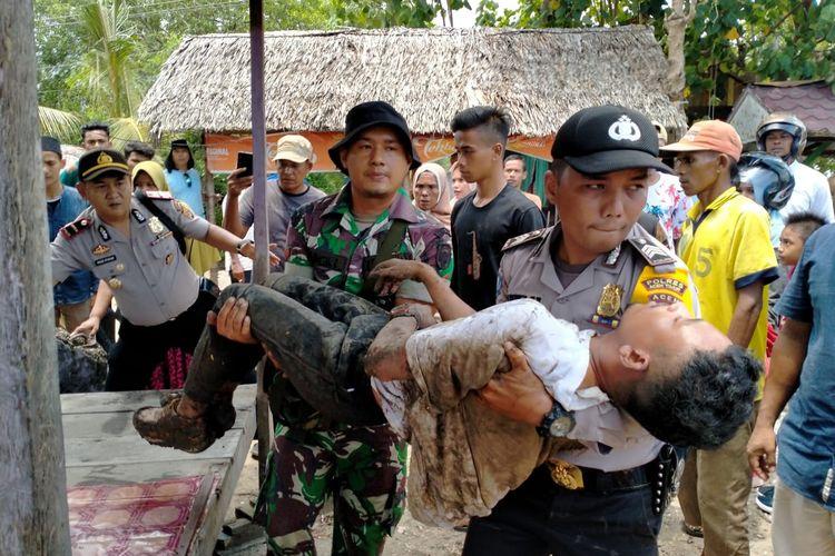 Warga Desa Seneubok Pidie, Kecamatan Peureulak Kabupaten Aceh Timur, menemukan seorang pria dibawah jembatan desa itu, Selasa (17/3/2020).