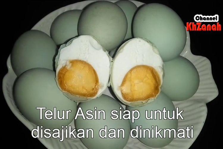 Proses pembuatan telur asin