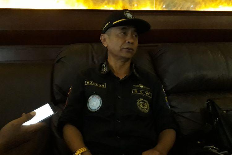 Petinggi Sunda Empire HRH Ki Ageng Ranggasana saat di sebuah hotel di Bali, Jumat (24/1/2020).