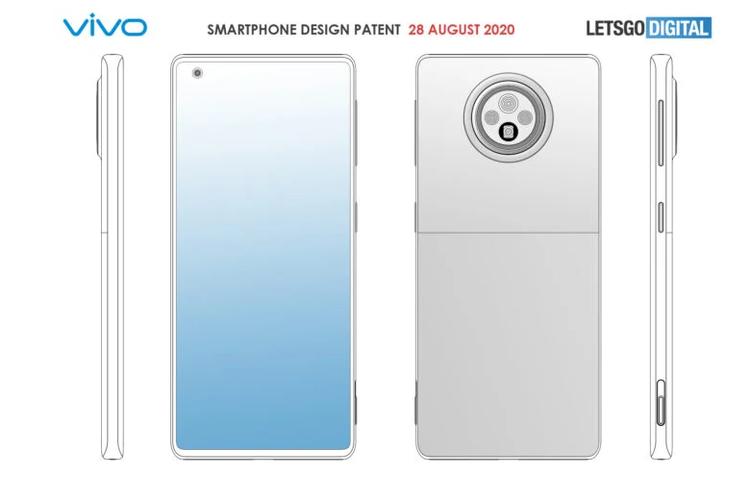 Desain ponsel dengan kamera periskop yang dipatenkan oleh Vivo