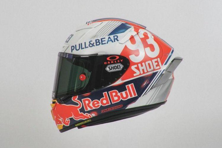 Helm retro Marc Marquez di GP Jerman