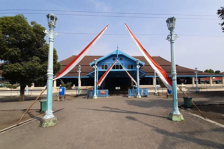 Suasana Masjid Agung di Solo, Jawa Tengah, Rabu (12/5/2021).