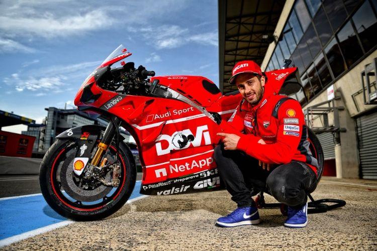 Andrea Dovizioso dan Danilo Petrucci pamer  livery baru di motor mereka