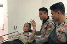 Seorang Polisi di Makassar Terbakar saat Hentikan Aksi Bakar Ban oleh Mahasiswa
