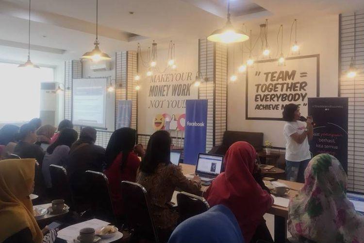 Acara workshop Womenpreneur Digital Acceleration di Yogyakarta.