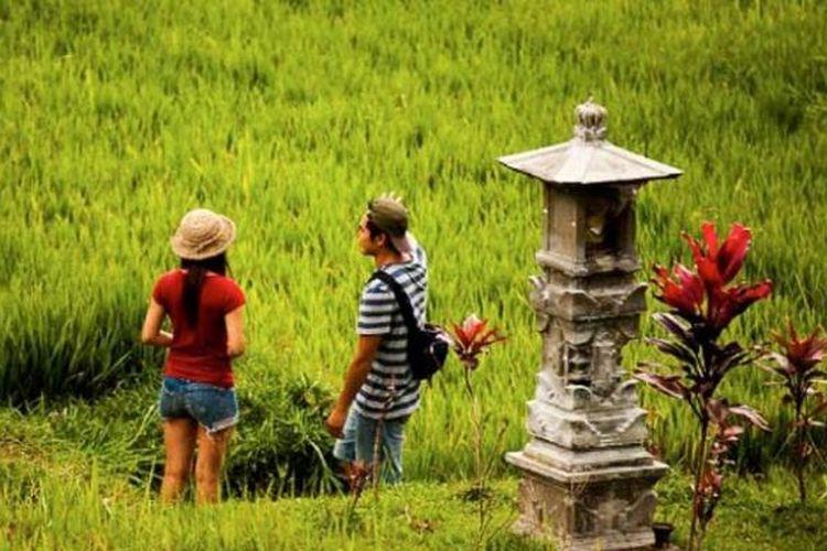 Desa Jatiluwih di Kabupaten Tabanan, Bali.
