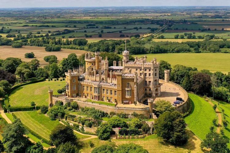 Belvoir Castle, salah satu lokasi syuting The Crown