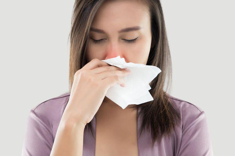 Ilustrasi hidung menjadi lokasi yang tepat sebagai jalur masuknya virus.