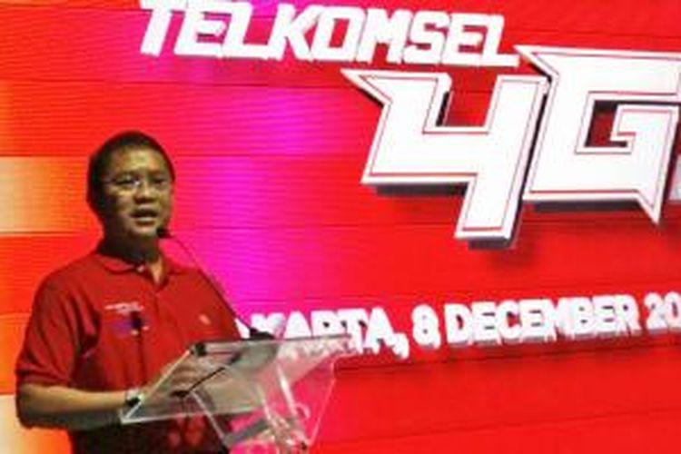 Menkominfo Rudiantara di acara peluncuran 4G LTE Telkomsel, Senin (8/12/2014)