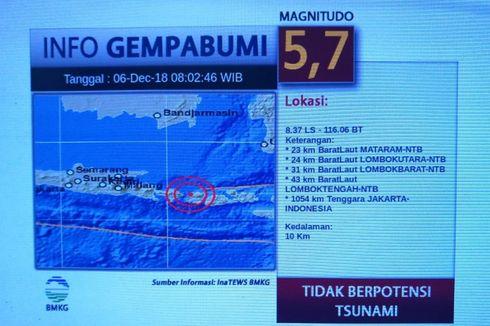 14 Orang Terluka Akibat Gempa Magnitudo 5,3 Guncang Lombok