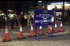 Jalan Kemang Raya Ditutup, Polisi Pasang Water Barrier, Traffic Cone, dan Spanduk