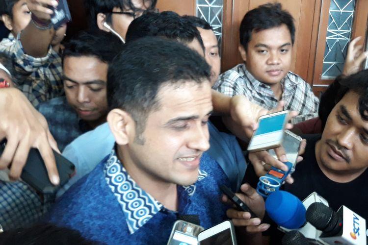 Mantan Bendahara Umum Partai Demokrat, Muhammad Nazaruddin di Pengadilan Tipikor Jakarta, Senin (19/2/2018).