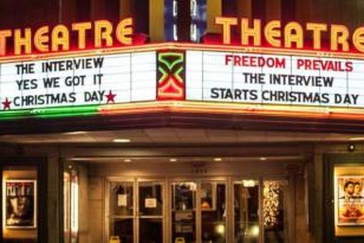 Film The Interview akhirnya diputar juga di beberapa gedung bioskop di Amerika Serikat
