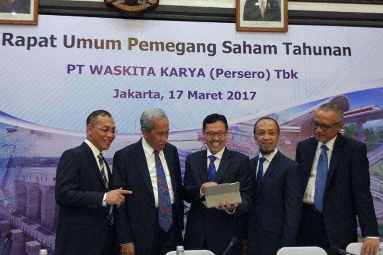 Rapat Umum Pemegang Saham Tahunan (RUPST) PT Waskita Karya (Persero) Tbk, di Gedung Waskita, Jakarta, Jumat (17/3/2017).