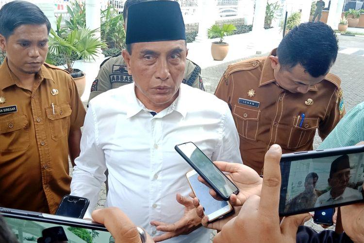 Gubernur Sumut Edy Rahmayadi usai meresmikan Masjid Gubsu rumah dinasnya, Jumat (17/1/2020)
