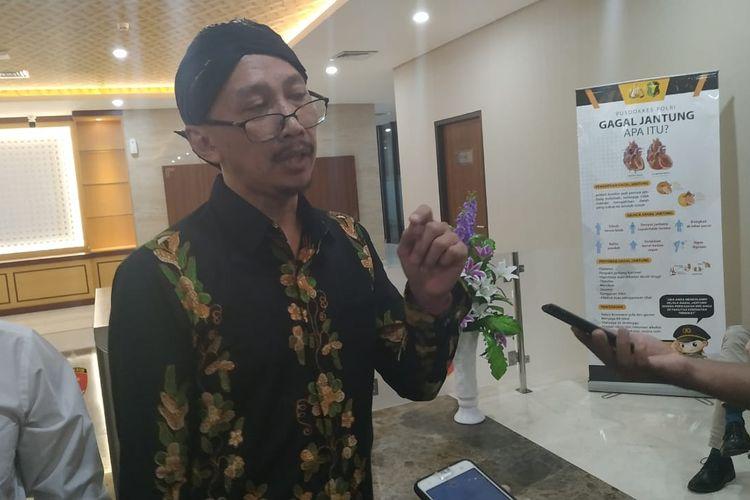 Permadi Arya atau Abu Janda di Gedung Bareskrim Polri, Jakarta Selatan, Jumat (29/11/2019).