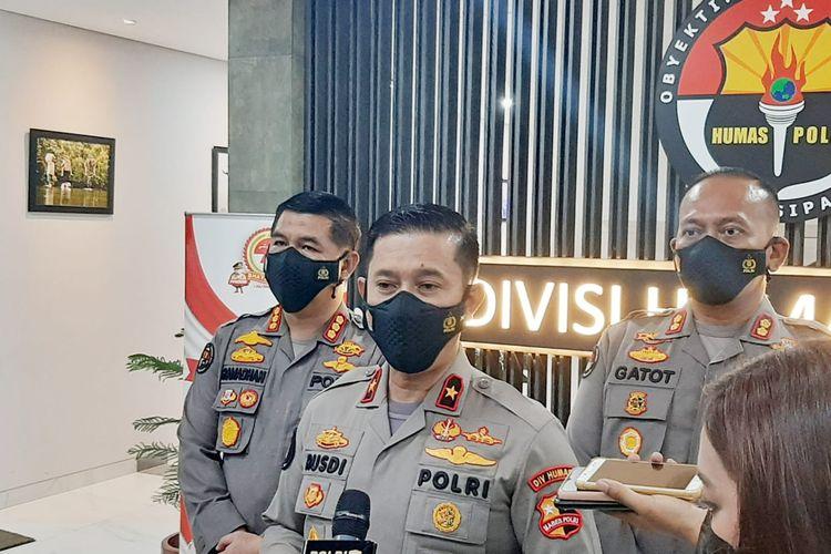 Kepala Biro Penerangan Masyarakat Divisi Humas Polri Brigjen Pol Rusdi Hartono di Mabes Polri, Jakarta.