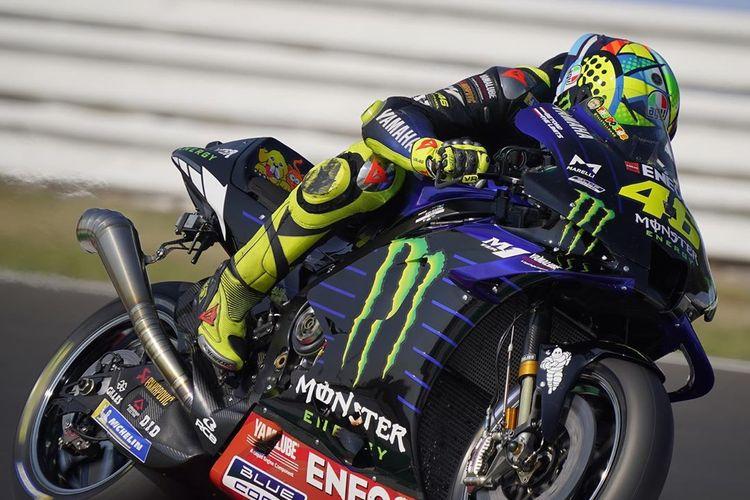 Valentino Rossi saat sesi tes di Sirkuit Misano