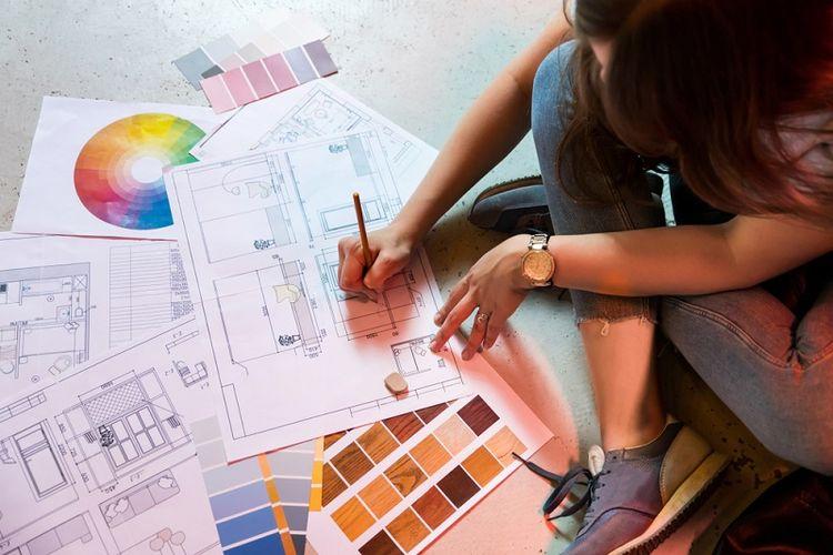 Ilustrasi desainer interior