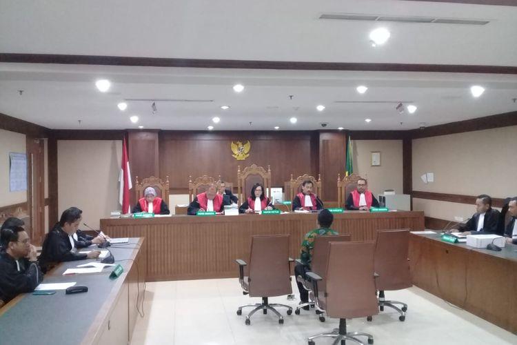 Asisten pribadi mantan Menteri Pemuda dan Olahraga (Menpora) Imam Nahrawi, Miftahul Ulum didakwa jaksa KPK menerima gratifikasi dengan total sekitar Rp 8,648 miliar bersama Imam dari sejumlah pihak. Dakwaan dibacakan di Pengadilan Tindak Pidana Korupsi Jakarta, Kamis (30/1/2020)
