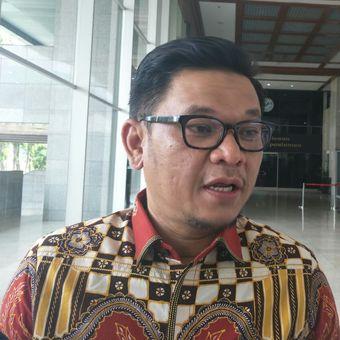 Juru bicara Tim Kampanye Nasional (TKN) Jokowi-Marud, Ace Hasan Syadzily, di Kompleks Parlemen Senayan, Jakarta, Jumat (29/3/2019).