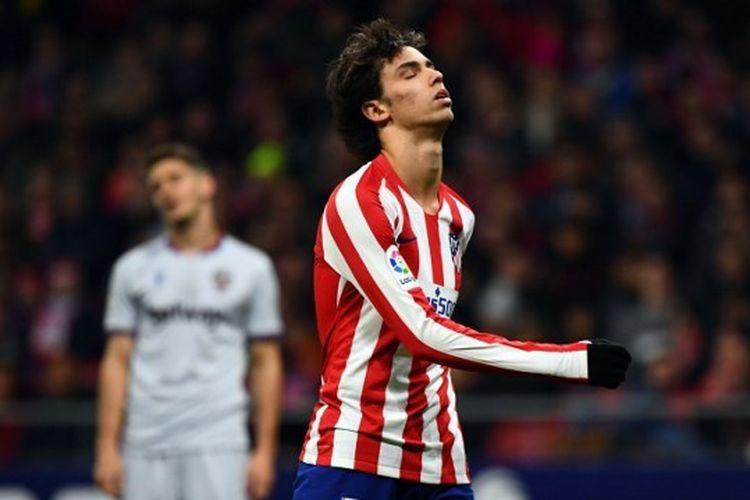 Penyerang Atletico Madrid, Joao Felix kala menjalani laga kontra Levante, Minggu (5/1/2020) dini hari WIB.