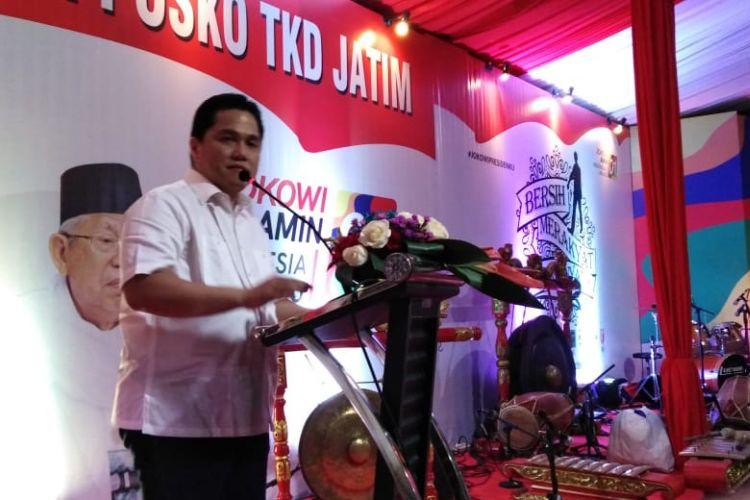 TKN Capres dan Cawapres Jokowi-Maruf Amin, Erick Thohir