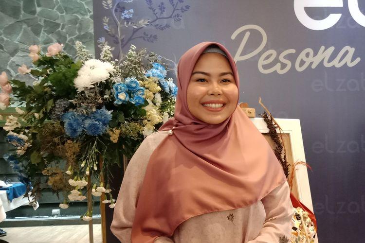Vice President Elzatta, Tika Mulya ketika ditemui pada acara jumpa pers di kawasan Kebayoran Baru, Jakarta Selatan, Senin (28/10/2019).