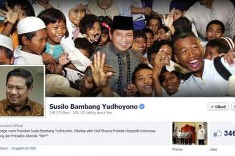 Fanpage Presiden Susilo Bambang Yudhoyono di Facebook