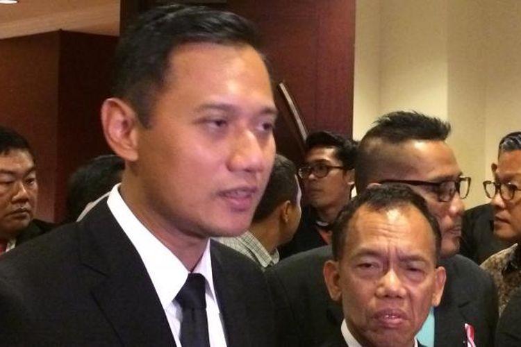 Calon gubernur DKI Jakarta, Agus Harimurti Yudhoyono di Hotel Borobudur, Jakarta Pusat, Rabu (1/2/2017).