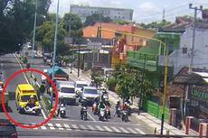 Viral, Video Ambulans Bawa Pasien Covid-19 di Jatim Lawan Arus Berujung Tabrak Motor yang Dikendarai Polisi