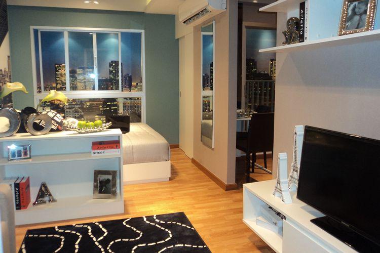 Interior apartemen tipe studio.