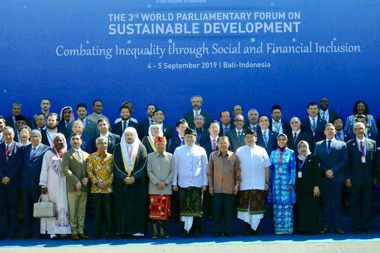 3rd World Parliamentary Forum on Sustainable Development (WPFSD ke-3), di Bali, Rabu (4/9/19).