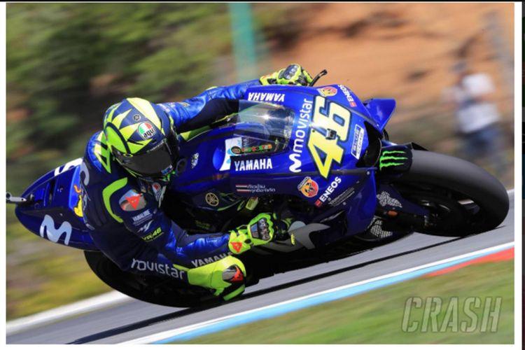 Pebalap Movistar Yamaha Valentino Rossi.