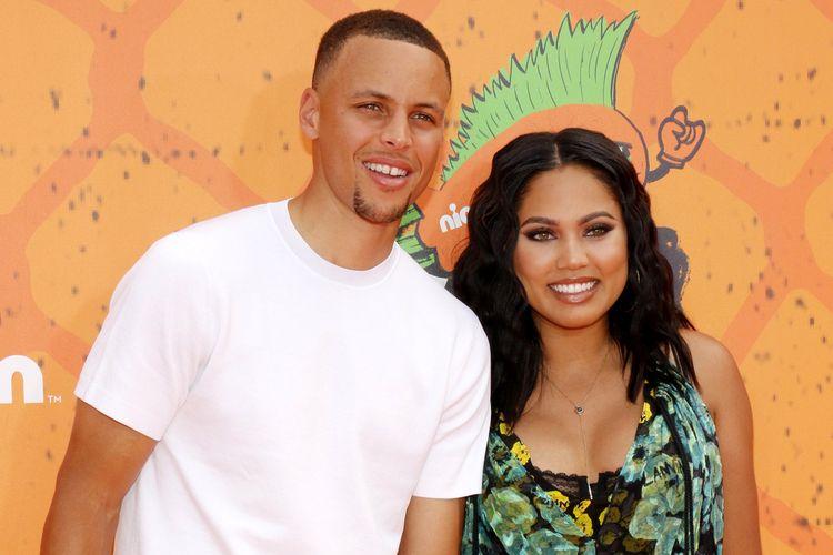 Bintang klub NBA, Warriors-Golden State, Stephen Curry dan istrinya, Ayesha Curry.
