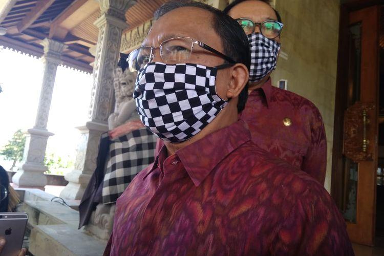 Gubernur Bali, I Wayan Koster di Gedung DPRD Bali, Senin (15/6/2020).