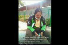 Foto Perempuan Cedera Bukan Pengemudi Go-Jek yang Dipukul di Buncit Raya