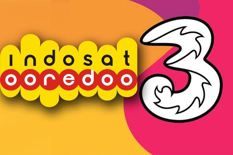Ilustrasi merger Indosat Ooredoo dengan Hutchison Tri Indonesia.