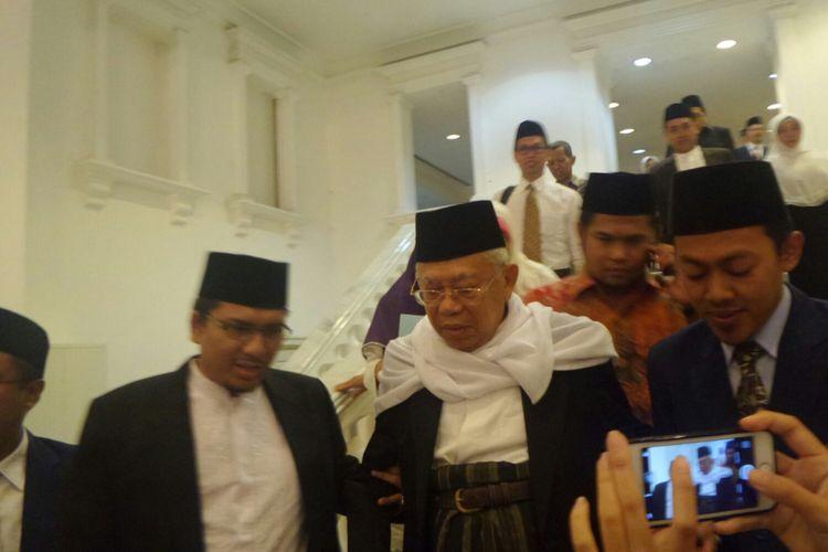 Ketua Majelis Ulama Indonesia Maruf Amin di Balai Kota DKI Jakarta, Jalan Medan Merdeka Selatan, Rabu (17/5/2017).
