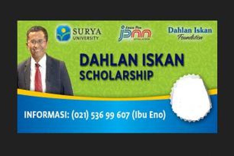 Program beasiswa S-1 di Surya University ini terbuka bagi siswa/I berprestasi lulusan SMA dan sederajat, jurusan IPA/IPS di seluruh Indonesia, untuk tahun akademik 2014-2015.